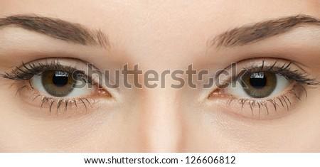 woman's eyes close-up - stock photo