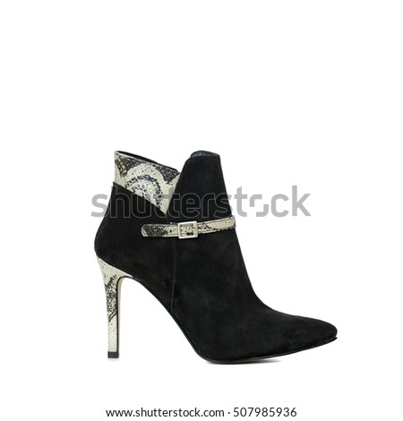 Woman's fashionable leather shoes