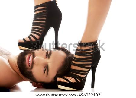 stepping on women face sex