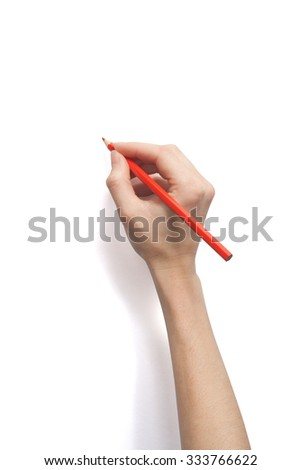 Woman's hand writing