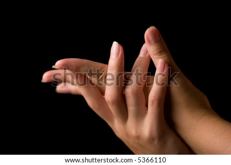 Woman's hands - stock photo