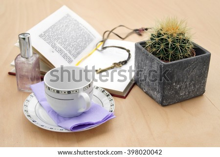 Woman's table                - stock photo