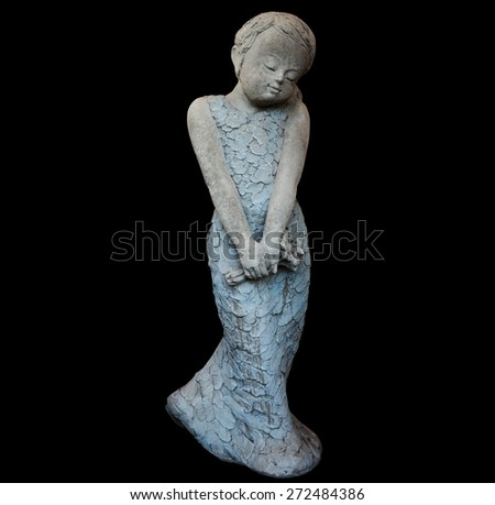 woman sculpture, include vector clipping path - stock photo