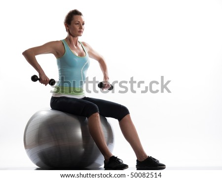 woman seat on swiss ball Seated Swiss Ball Wide Rowing
