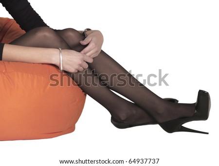 woman setting - stock photo