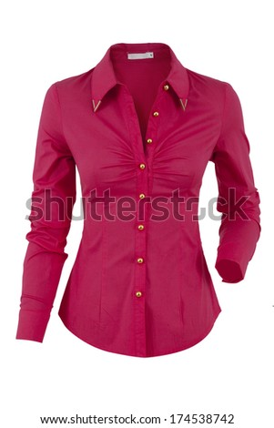 Woman shirt isolated on a white background - stock photo