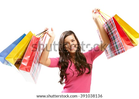Woman shopping - stock photo
