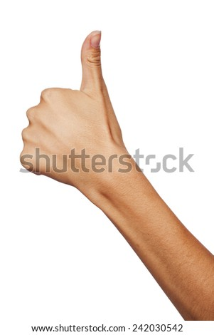 Woman showing hand ok sign - stock photo