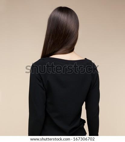Woman spine. studio shot - stock photo