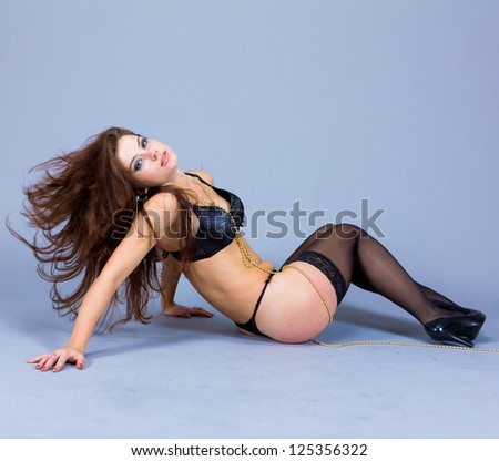 Woman Striptease Posing