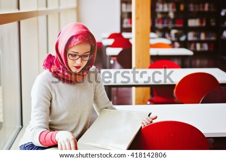 Woman studying read book  - stock photo