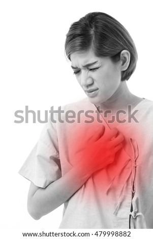 woman suffering from acid reflux or GERD