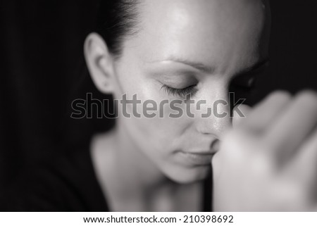 Woman suffering from stress. - stock photo