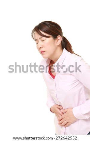 woman suffers from stomachache?