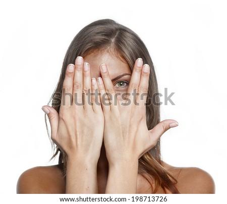 woman tan - stock photo