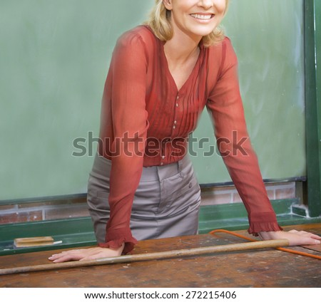 woman teacher - stock photo