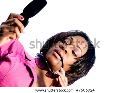 Woman Texting - stock photo