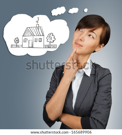 Woman thinks about the home