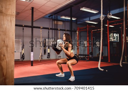 Woman Training Functional Gymnastic Crossfit Gym Stock Photo Safe
