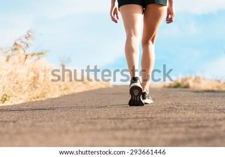 Woman walking  - stock photo