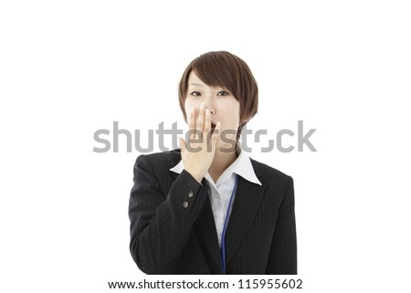 Woman wearing a suit