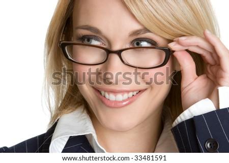 Woman Wearing Glasses - stock photo