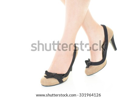 Woman wearing high heels
