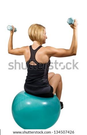 woman Weight lifting - stock photo