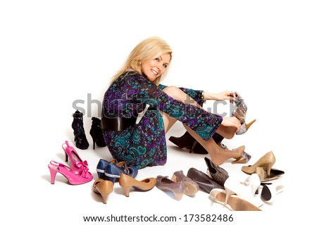 Woman whit shoes