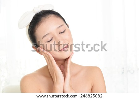 Woman who are relaxed - stock photo
