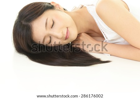 Woman who is relaxed - stock photo