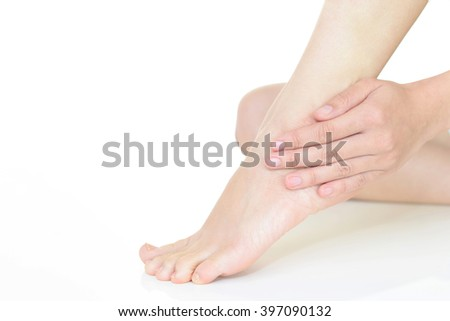 Woman who takes care of her foot