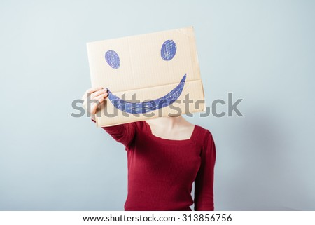 woman with a funny smiley