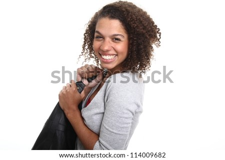 Woman with a handbag - stock photo