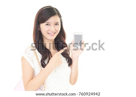 Woman with a smart phone.