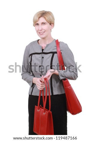 Woman with bags - stock photo