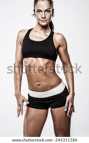Woman with beautiful athletic body  - stock photo