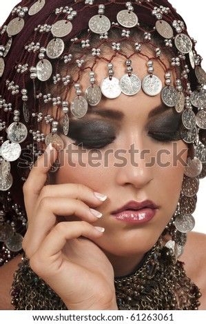 Woman with beautiful make up