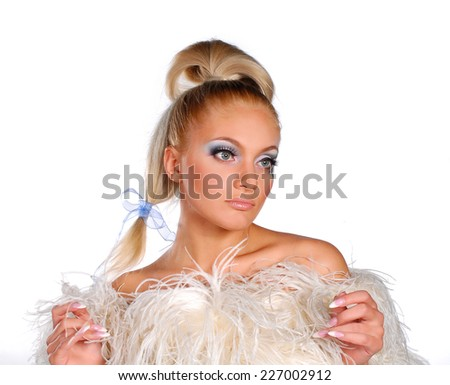 Woman with beauty make up - stock photo