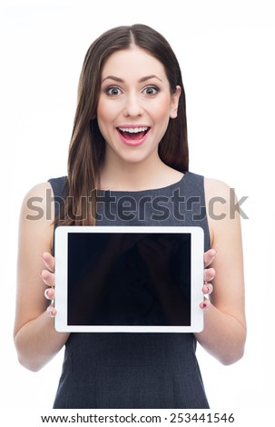 Woman with digital tablet  - stock photo