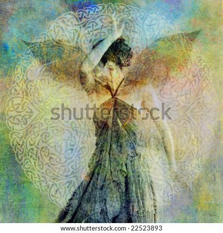 pure intimacy young woman beautiful dress stock photo