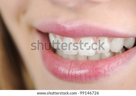 Woman with great teeth