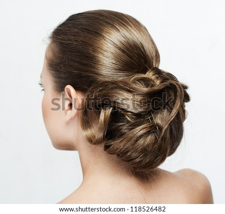 woman with hairstyle - stock photo