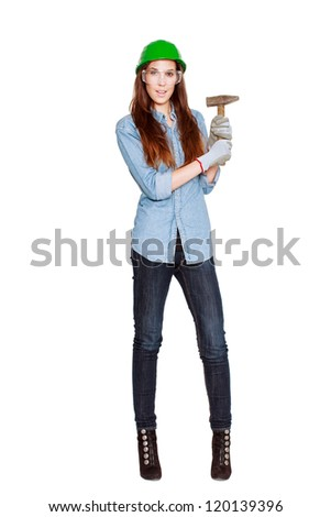 Woman with hammer