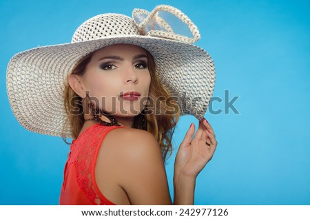 woman with hat/ elegant woman/