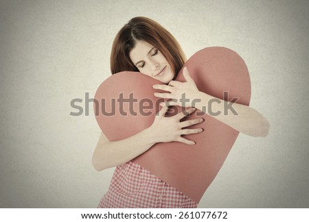 woman with heart shape