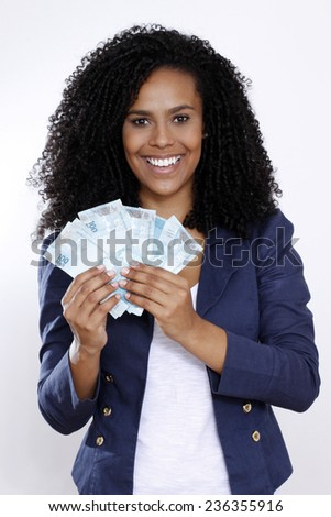 woman with money brazilian