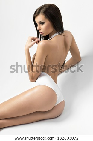 Woman with perfect body - stock photo