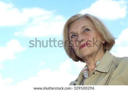 woman with short hair on the nature