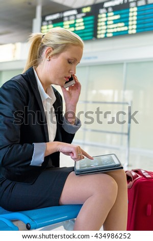 woman with tablet computer - stock photo